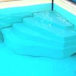 Escalier piscine cybele