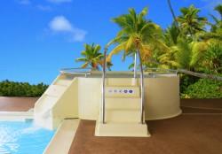 le bain bouillonnant collectif idéal pour l'hotellerie de plein air.
